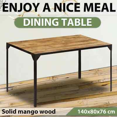 AU288.99 • Buy VidaXL Solid Mango Wood Dining Table 140cm Kitchen Stand Dining Room Furniture