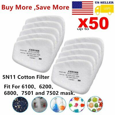 $ CDN31.57 • Buy 10/20/50Pcs 5N11 Cotton Filter Replacement For 6200 6800 7502 Respirator Filters