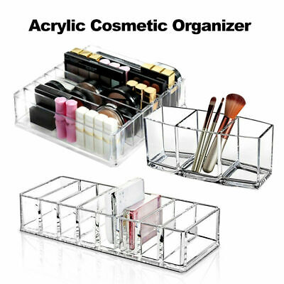 AU17.49 • Buy Clear Cosmetic Organizer Acrylic Makeup Drawers Jewelry Holder Case Box Storage