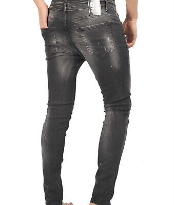 £53.10 • Buy Dsquared2 Black Mens Jeans_5084_rubber Blue Logo_painted New Model_dsquared2