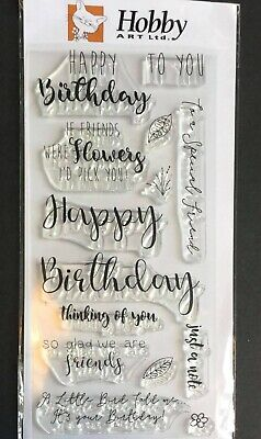 £10.99 • Buy Hobby Art Stamp Set 'Greetings For Friends' New Free P&p