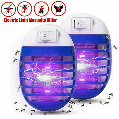 2* Electric UV Light Mosquito Killer Insect Fly Zapper Bug Trap Catcher Lamp UK • 6.29£