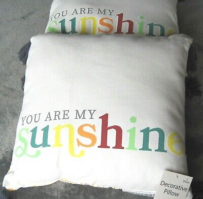 Set Of Two  You Are My Sunshine  Throw Pillows W/tassles • 8.14£