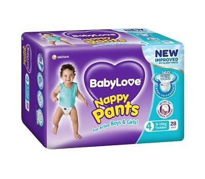 AU14.95 • Buy BabyLove Nappy Pants Toddler (9 To 14kg) X 28 (Limit 2 Per Order)