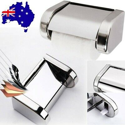 AU12.59 • Buy  Sealed Stainless Steel Tissue Holder Roll Paper Holder Toilet Paper Carton New