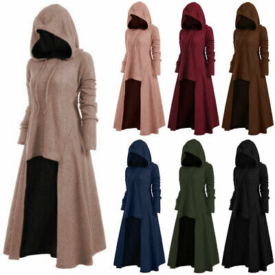 AU31.69 • Buy Women Oversize Plain Hooded Dress Long Sleeve Casual Winter Hoodies Pullover
