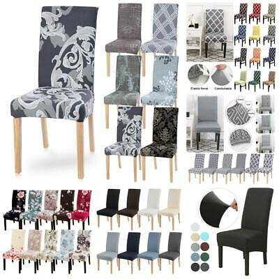 UK Elastic Kitchen Dining Chair Covers Covers Slipcovers Chair Protective • 4.49£