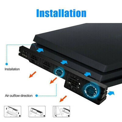 AU19.18 • Buy 5-fans For PS4 / Pro Game Accessories Play Station 4 Host Fan Cooler External
