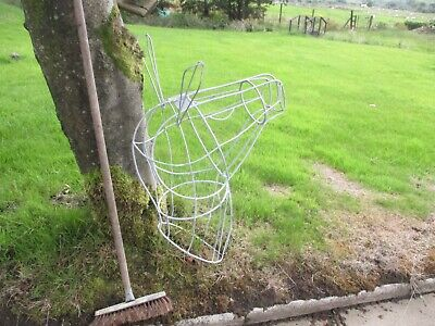 Horses Head Metal Wire Frame Sculpture Topiary Crafts Garden Equestrian Riding • 75£