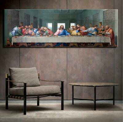 £8.10 • Buy AA485 Wall Decor Canvas Art Print Painting The Last Supper Unframed