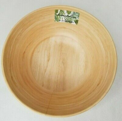 $39.99 • Buy Tommy Bahama Wood Bamboo Look Melamine Large Salad/Serving Bowl 11  X 4  New