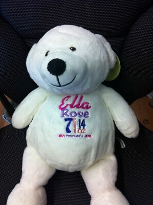 Cute Cuddly Teddy - Personalised With Embroidered Message, Name Or Birth Date • 20£