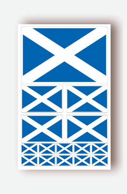 15 X  Scotland SCOTTISH FLAG Vinyl Decals Car Van Bike Waterproof Stickers Flags • 1.99£