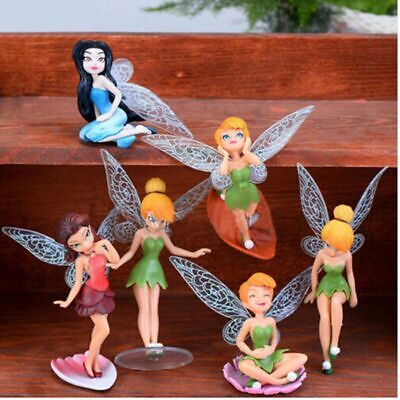 6 Tinkerbell Fairies Secret Of The Wing Action Figure Doll Cake Topper Decor Toy • 5.68£