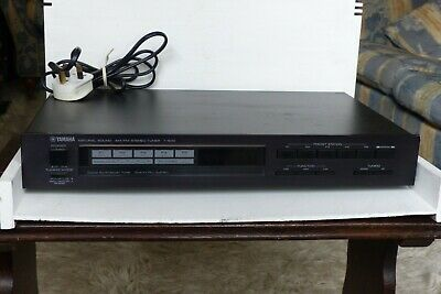 Vintage YAMAHA Natural Sound Stereo Tuner T-500 Black GC Fully Working Great Sou • 35£