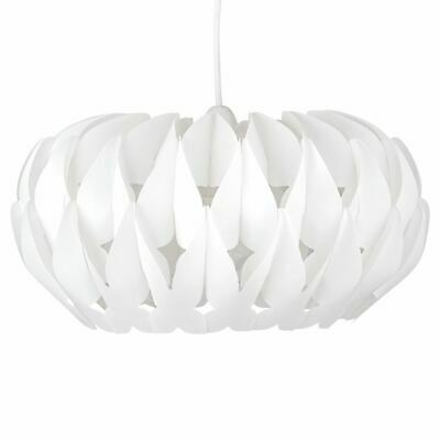 Modern Ceiling Light Shade White Pendant Ceiling Shade Wave Design • 17.99£