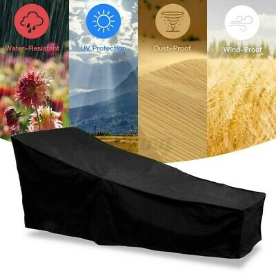 AU24.59 • Buy Waterproof Sun Lounge Chair Dust Cover HavyDuty Outdoor Garden Patio Furniture