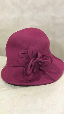 Coucoland 1920s Cloche Hats For Women Ladies Cloche Bowler Hat Classic Red 4065 • 23.99£