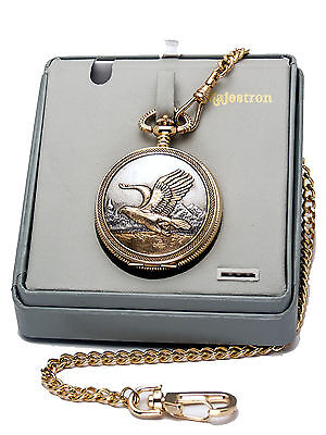 $16.99 • Buy Majestron Pocketwatch Eagle Cover Case,gold Embossed Eagle Dial,with Chain