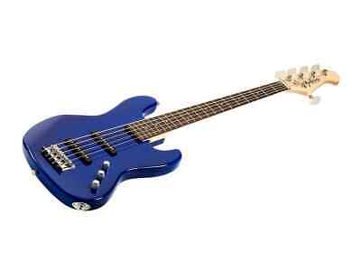 $ CDN248.09 • Buy Monoprice Indio Jamm 5-String Electric Bass - Blue, With Gig Bag