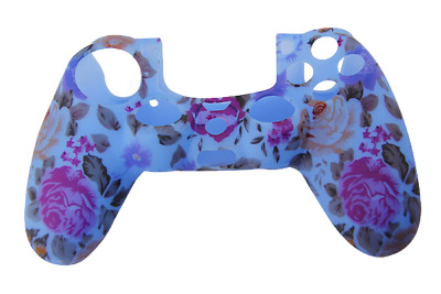 AU8.90 • Buy Silicone Cover For PS4 Controller Case Skin - Blue Floral