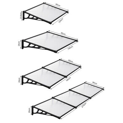£72.95 • Buy 4sizes Door Canopy Awning Shelter Roof Front Back Porch Outdoor Shade Patio Roof