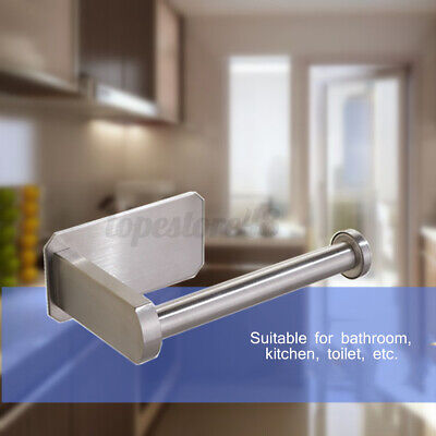 AU18.25 • Buy Stainless Wall Mounted Toilet Roll Holder Round Paper Tissue Stand Bathroom 🇦🇺