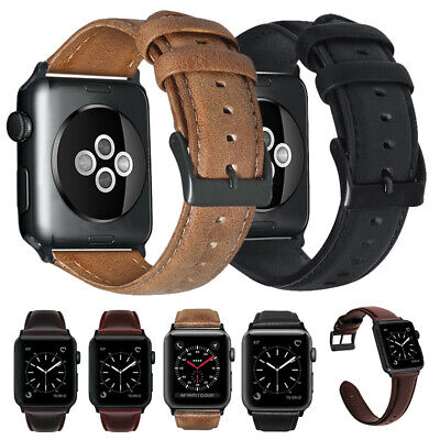 $ CDN13.55 • Buy For Apple Watch 38/42/40/44mm Series 5 4 3 Retro Genuine Leather Band Men Strap