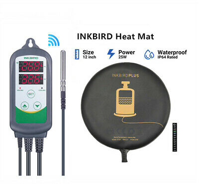 AU59.49 • Buy Inkbird Wifi Temp Controller Thermostat Heat Cool + Heating Mat Pad Home Brew AU