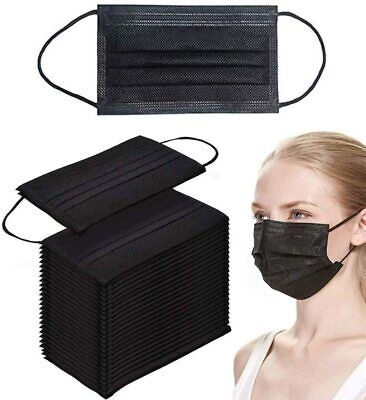 AU24.45 • Buy Black / Pink  / BLUE  Disposable Face Mouth Mask 3 Layer Protective Audit / Kid