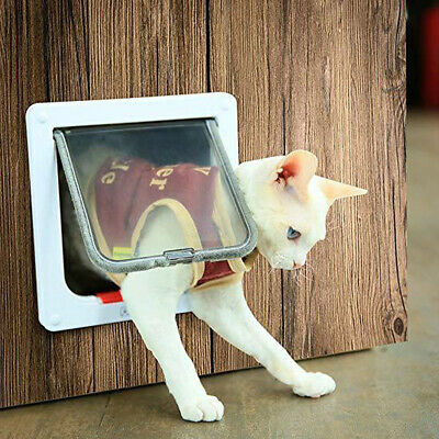 Pet Safe Staywell Manual Cat Flap Pet Door 4 Way Locking In White L-M-S 3 Size • 10.98£