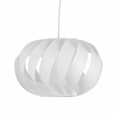Modern Ceiling Light Shade White Pendant Ceiling Shade Swirl Design • 12.99£
