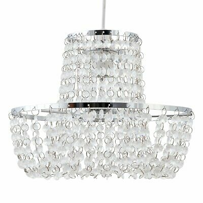 £15.99 • Buy Chandelier Style Easy Fit Ceiling Light Shade Modern Acrylic Crystal Pendant