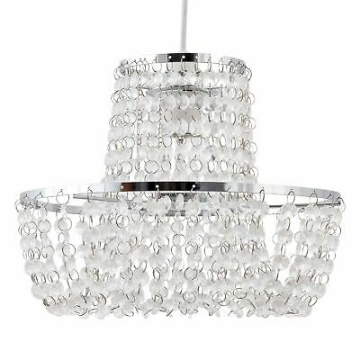 Chandelier Style Easy Fit Ceiling Light Shade Modern Acrylic Crystal Pendant • 15.99£