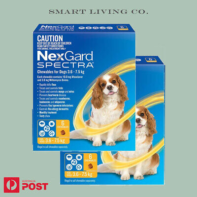 AU106.80 • Buy NEXGARD SPECTRA Chewables For Dogs Yellow 3.6 -7.5kg Nextgard Melbourne Store