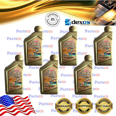$ CDN76.51 • Buy 5W30 Full Synthetic Dexos 2 Motor Oil 6 Quarts A Case Castrol EDGE Professional