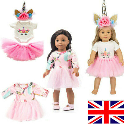 Doll Clothes Dress Outfits Pajames Xmas For 18 Inch American Girl Our Generation • 10.85£