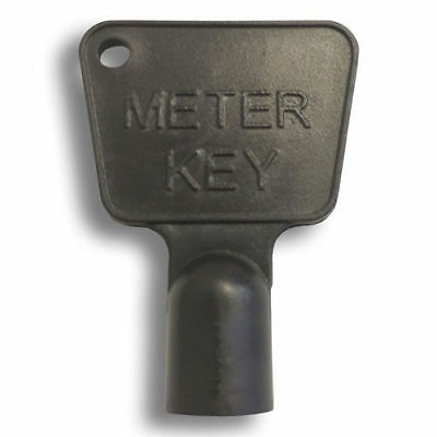 BLACK Service Utility Meter Key Gas Electric Box Cupboard Cabinet Triangle  • 1.95£