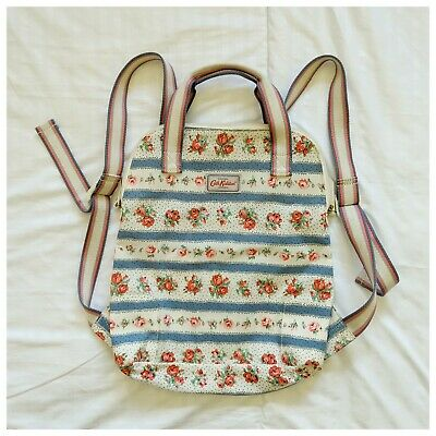 Cath Kidston Floral Rucksack Backpack  Oilcloth Bag Vintage Rose Pattern • 24£