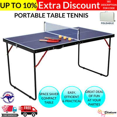 AU82.12 • Buy SALE Portable Table Tennis Table Play Post Indoor Outdoor Net Bat Ball Activity