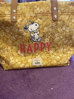 Cath Kidston Snoopy Peanuts Happy Tote Bag And Yellow Purse Set • 80£
