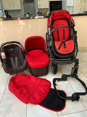 GRACO EVO TRAVEL SYSTEM RED. Pushchair/carrycot • 21£