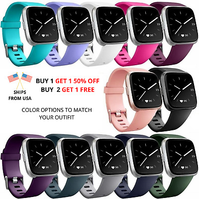 $ CDN5.75 • Buy Replacement Silicone Rubber Classic Band Watch Strap Wristband For Fitbit Versa