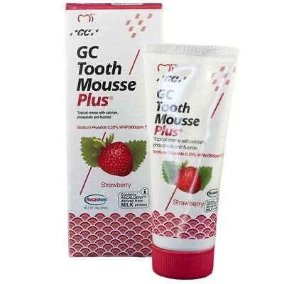 AU27.95 • Buy GC Recaldent Tooth Mousse Plus With Flouride - Strawberry 40g