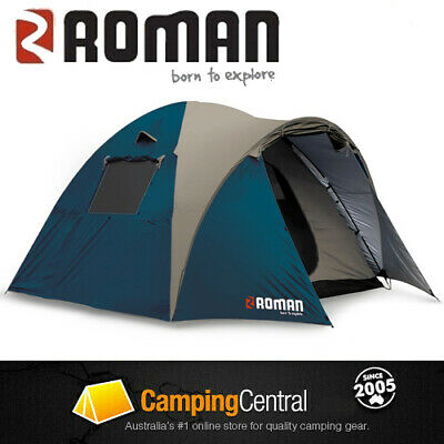 AU99.95 • Buy Roman Escape 4v 4 Person Man Tent Camping Companion Compact Hiking Tent