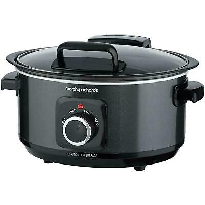 Morphy Richards Sear &  Slow Cooker -  Hinged Lid  - Black 6.5 L • 46.99£