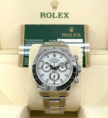 $ CDN28955.90 • Buy Rolex Cosmograph Daytona 40mm Stainless Steel Watch Ref 116520 Box & Papers
