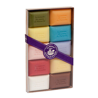 French Soaps - 10 X 25g Argan Oil Fragrances - Gift Pack - Savon De Marseille • 7.95£