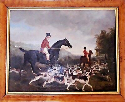 Antique Painting  / A Naive Oil Painting Of A Hunt C19 • 1,295£