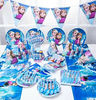 £3.59 • Buy Disney Frozen Elsa Anna Birthday Party Tableware, Decorations And Balloons Cups
